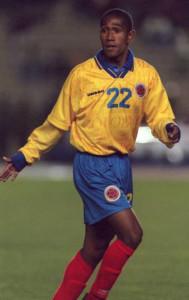 Néider Yesí en plena Copa América de Bolivia y su uniforme en plena metamorfosis.